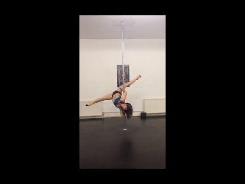 Hello Split & Pegaus Spinning combo (Justine McLucas Pole Dancing)