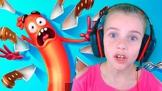 ЗАБЕГ СУМАСШЕДШЕЙ СОСИСКИ смешное ВИДЕО ДЛЯ ДЕТЕЙ мультяшная детская игра Run Sausage Run!