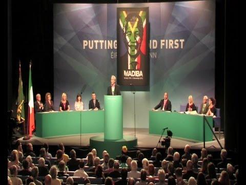Sinn Féin Ard Fheis tribute to Nelson Mandela