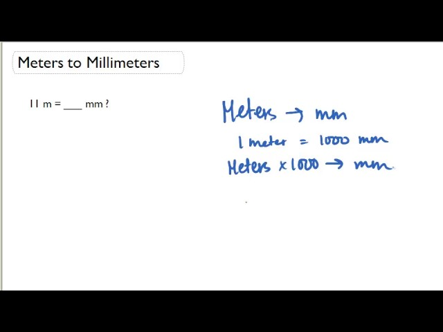 Meters To Millimeters Youtube