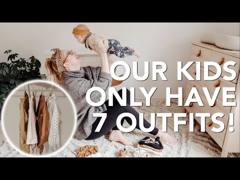 OUR KIDS ONLY HAVE ONE WEEK'S WORTH OF CLOTHES | Kids Capsule Wardrobe!
