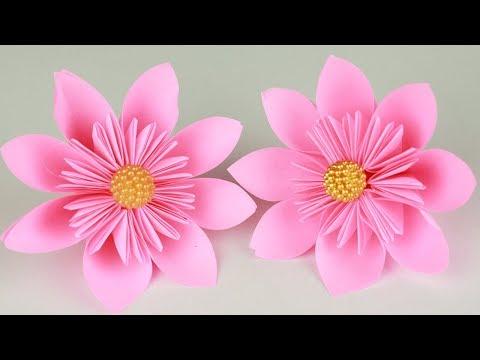 EASY ORIGAMI   Kusudama Paper Flower making   Origami Flower Tutorial(Paper Crafts)