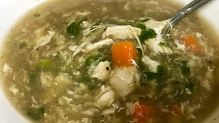 पॉशटिक चिकन सूप| Healthy Chicken Soup recipe| Street style Hot n sour Chicken soup