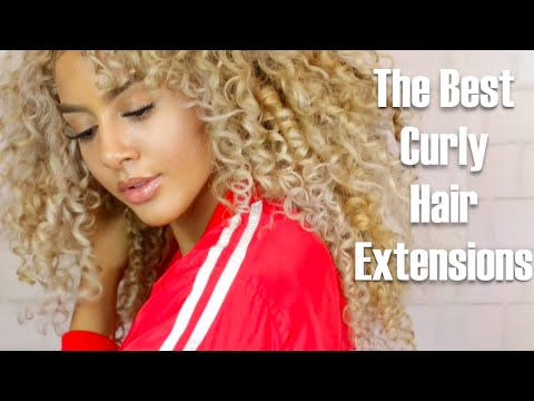 the best curly hair extensions youtube