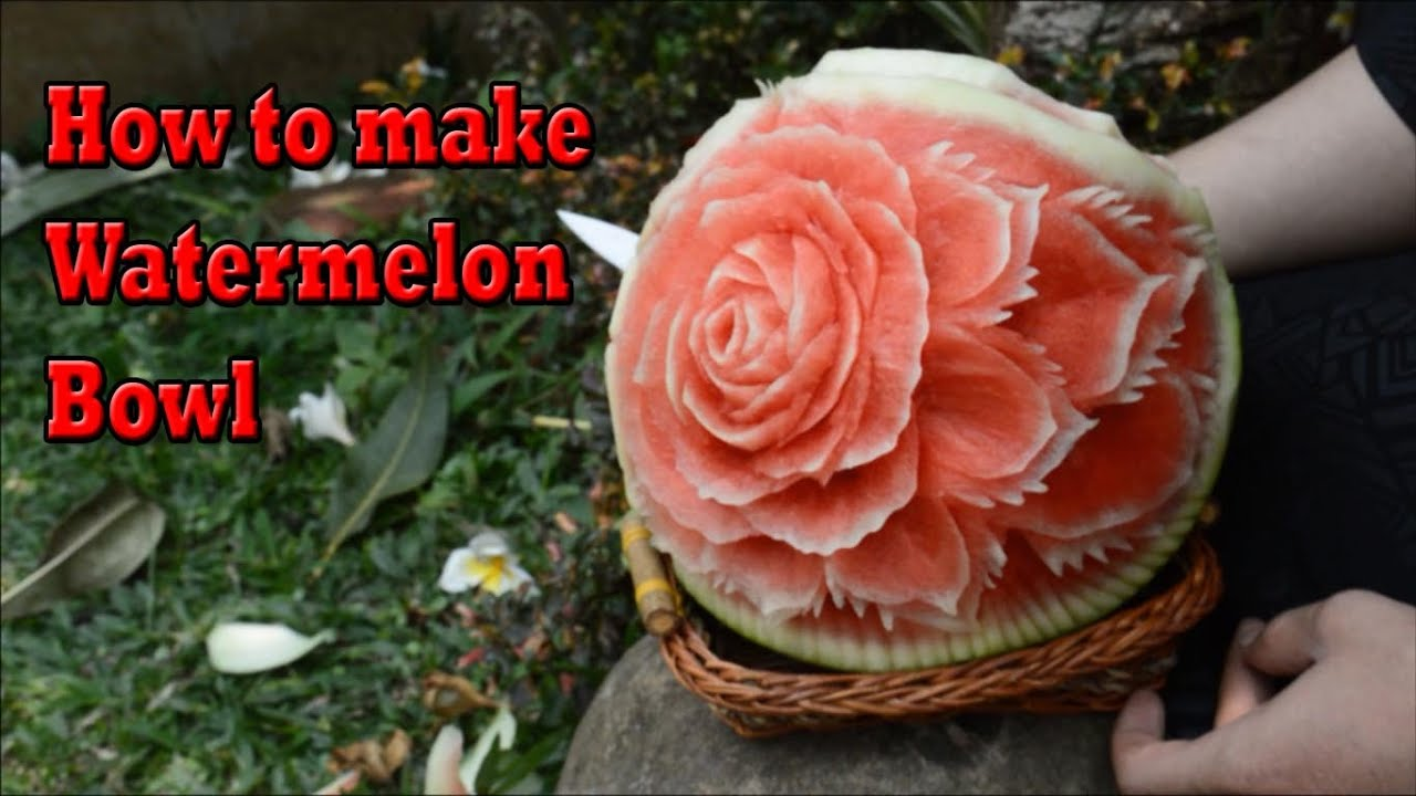 how to make a watermelon basket video