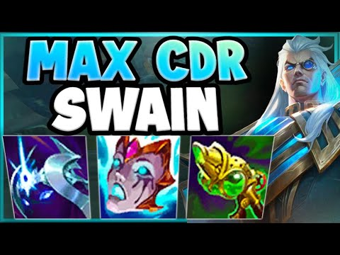 WTF! MAX CDR SWAIN = ONE SECOND CD ON Q?? MAX CDR HASTE SWAIN GAMEPLAY! - League of Legends