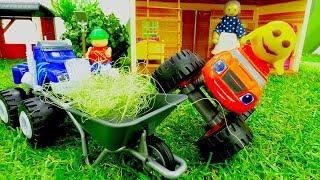Мультики про машинки. Вспыш в гостях у Колобка. Видео с игрушками.