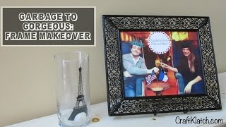 Garbage To Gorgeous Episode #7   Frame Makeover Diy   Craft Klatch