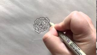 How to Draw a Simple Zinnia - Flower Art
