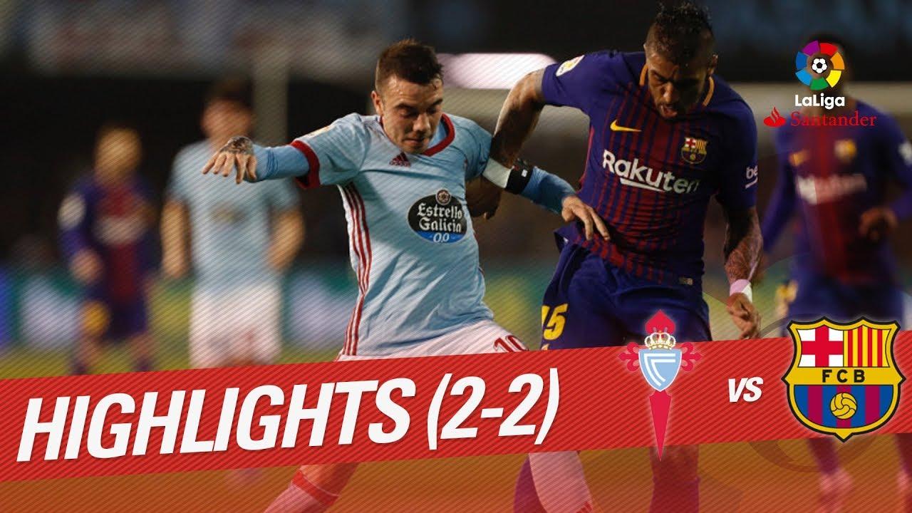 Resumen De Rc Celta Vs Fc Barcelona 2 2 Youtube