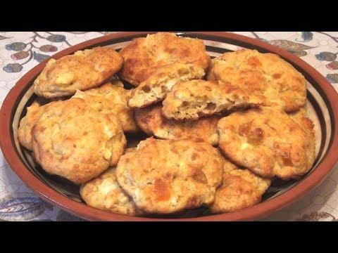 Печенье творожно-овсяное с яблоками и цукатами. За 15 минут + выпечка.