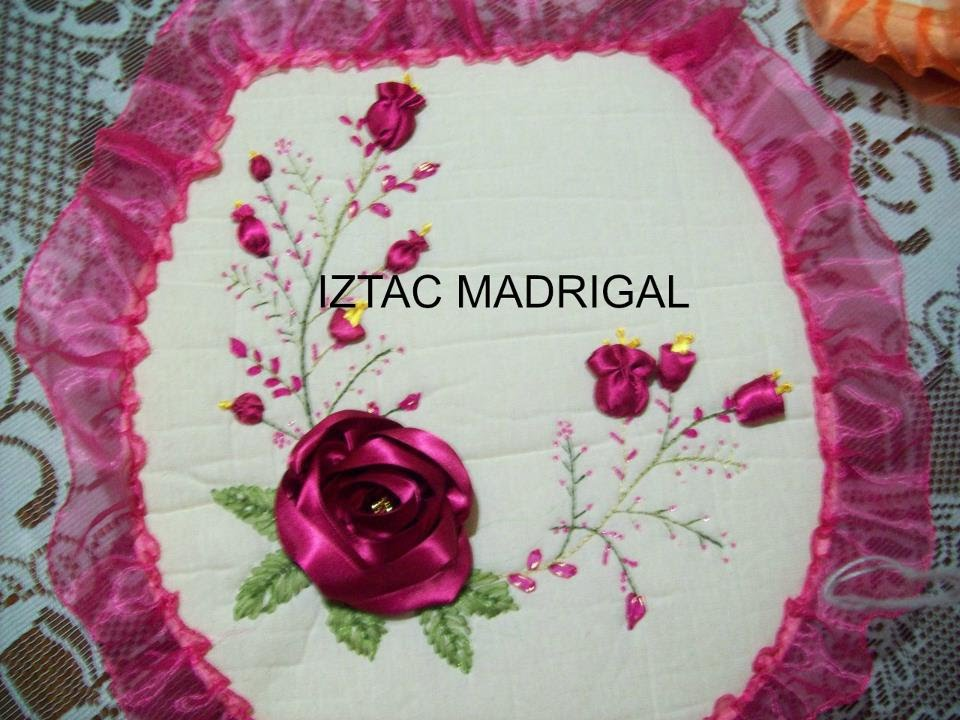 24 DIY Rosa estrella en cintas Iztac Madrigal - YouTube