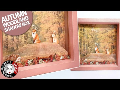 SHADOW BOX DIY, Shadow Box Ideas, Shadow Box Frame Tutorial, Shadow Box Art   Fall Decor