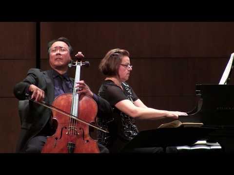 YoYo Ma, cello, and Kathryn Stott, piano, at the Moss Arts Center