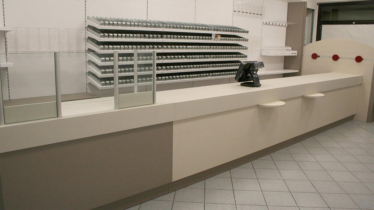 Arredamento negozio tabaccheria ricevitoria ekip for Ginocchi arredamenti roma