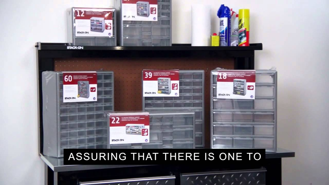 Stack On Parts Storage Drawer Cabinets