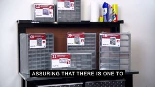 Stack-On Parts Storage Drawer Cabinets
