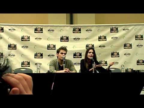 Paul Wesley & Torrey DeVitto from Vampire Diaries Wizard World Philly Q&A 6-2-12.AVI