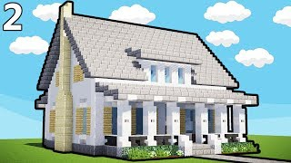 Minecraft - How to Build A Country House   House Tutorial   Part 2