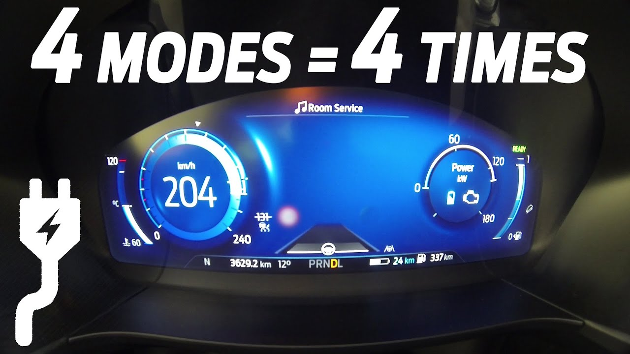 2020 Ford Kuga Plug-In Hybrid 0-100 km/h Acceleration & Top Speed in 4 different modes