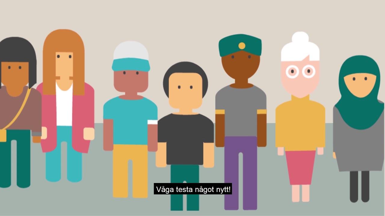 Speed dating mellan arbetsskande ungdomar i Hedemora