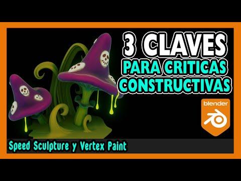 🏋️ Como hacer CRITICAS CONSTRUCTIVAS 🏋️  Escultura digital blender 2.9   Magnaomega