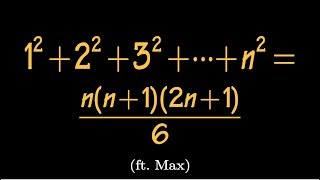 Find the sum of first n squares, difference equation approach, (ft. Max!)