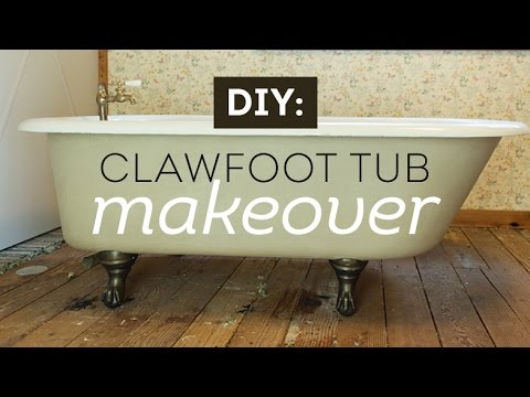 A Vintage Clawfoot Tub Makeover With Maison Blanche Paints