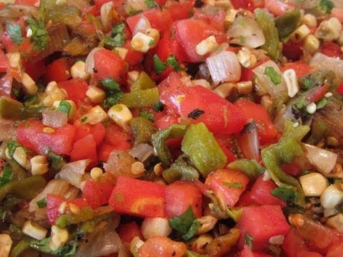 ~Wood Fire Roasted Hatch Chili Salsa Recipe With Linda's Pantry~