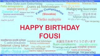 Fousi   Languages Idiomas - Happy Birthday