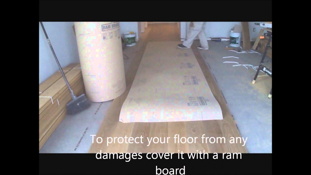 Wide Plank Hardwood Flooring Installation Solid Wood Glue Down