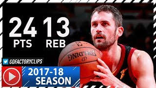 Kevin Love Full Highlights vs Bulls (2017.12.04) - 24 Pts, 13 Reb in 3 Qtrs