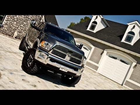 Installation of a 6 inch lift from Top Gun Customz on a 2012 Dodge Ram 3500