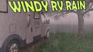 🎧 Sleep with Windy RV Rain Storm   Ambient Noise for Sleeping, Relaxing, Insomnia, @Ultizzz day#95