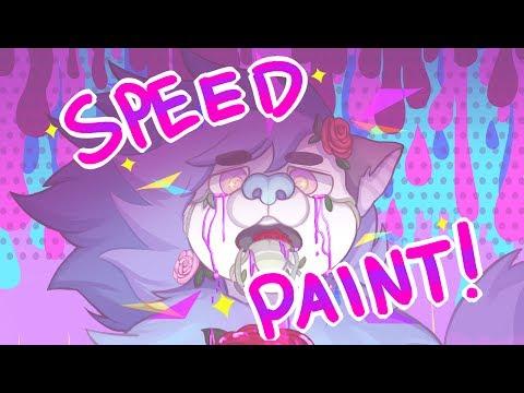 Angst Meme Fursona Speedpaint! Gore/Blood Warning!