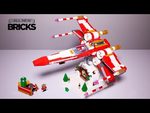 Lego Star Wars Exclusive Christmas X-Wing For Lego Employees Speed Build