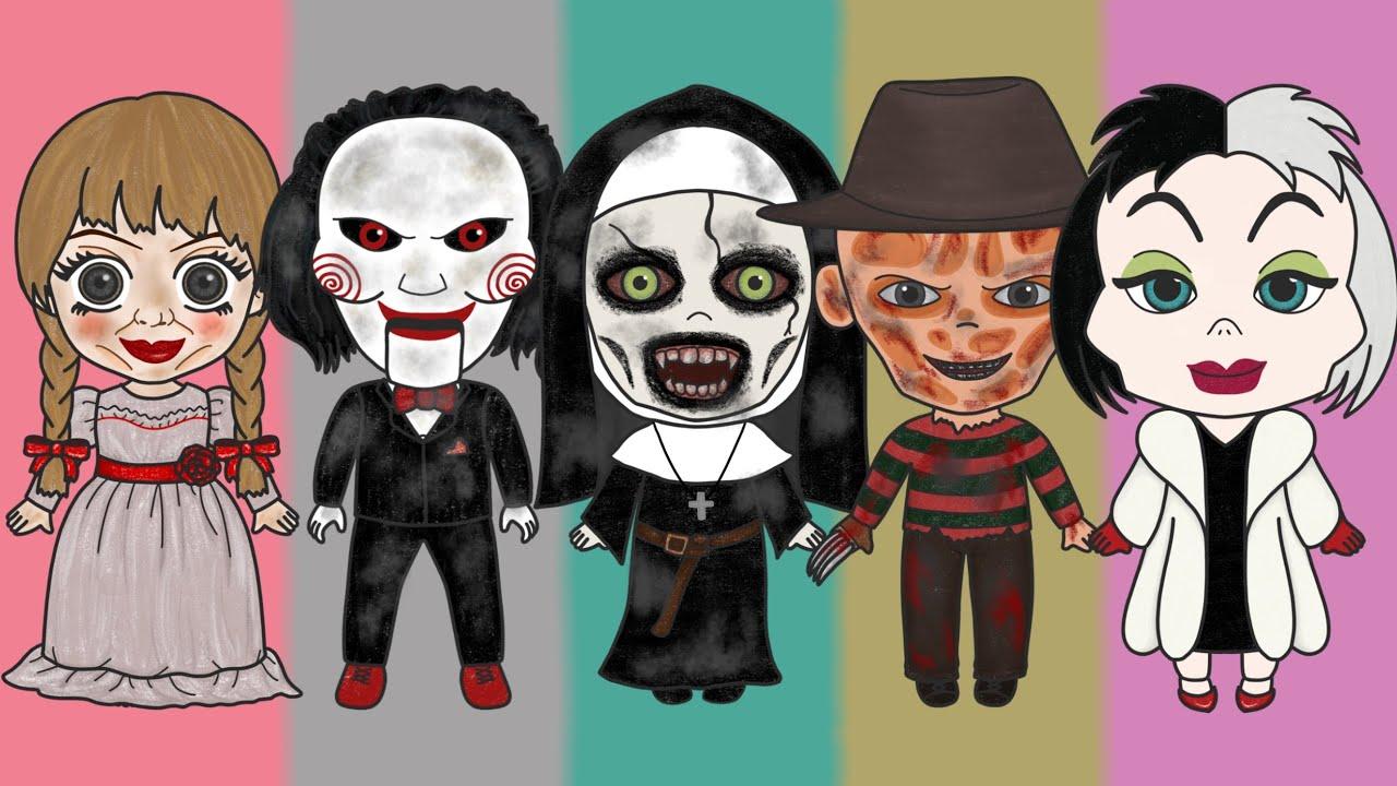 인형 수리하기 모아보기 Repair Doll Collection (Annabelle Jigsaw Conjuring Valak Freddy Cruella)