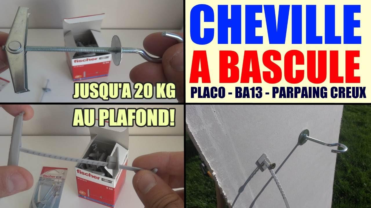 Fixer Charges Lourdes Dans Un Plafond (placo, Ba13, Parpaing Creux) :  Cheville à Bascule, à Ressorts - YouTube