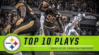 Steelers Best Plays from Week 10 vs. Panthers | Top 10