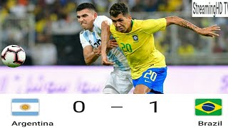 Brazil vs Argentina 1-0 Full Game Highlights 10/16/2018