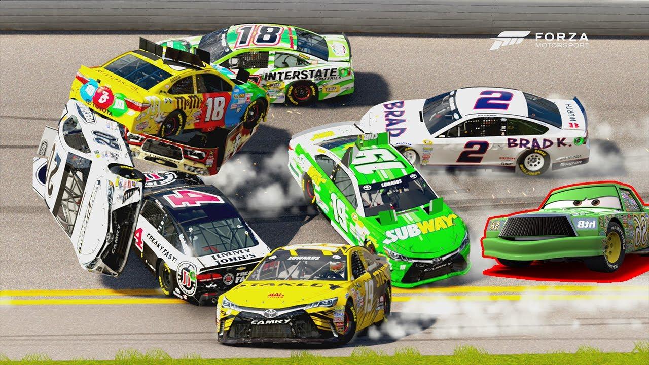 How To Flip Cars >> Triple Flip! (+DINOCO'S ALL MINE FAIL!) | Forza Motorsport 6 | NASCAR Expansion - YouTube