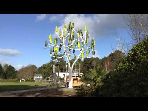 Parece árvore, mas é uma turbina eólica