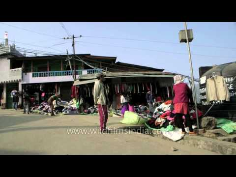 Readymade clothes for sale at Tamenglong market, Manipur