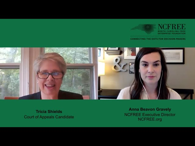 NCFREE Judicial Interview - Tricia Shields - Court of Appeals Seat 4