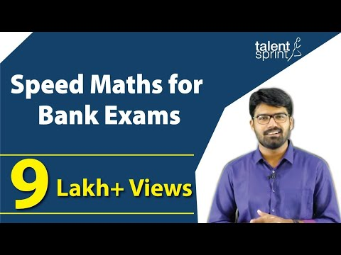 Speed Maths for bank exams | Speed Maths Tricks | TalentSprint