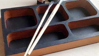 DIY How to make a Vintage cardboard organizer (corrugated cardboard furniture) HD