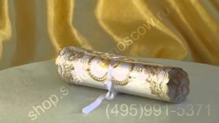 Приглашение свиток на свадьбу с ленточкой №10