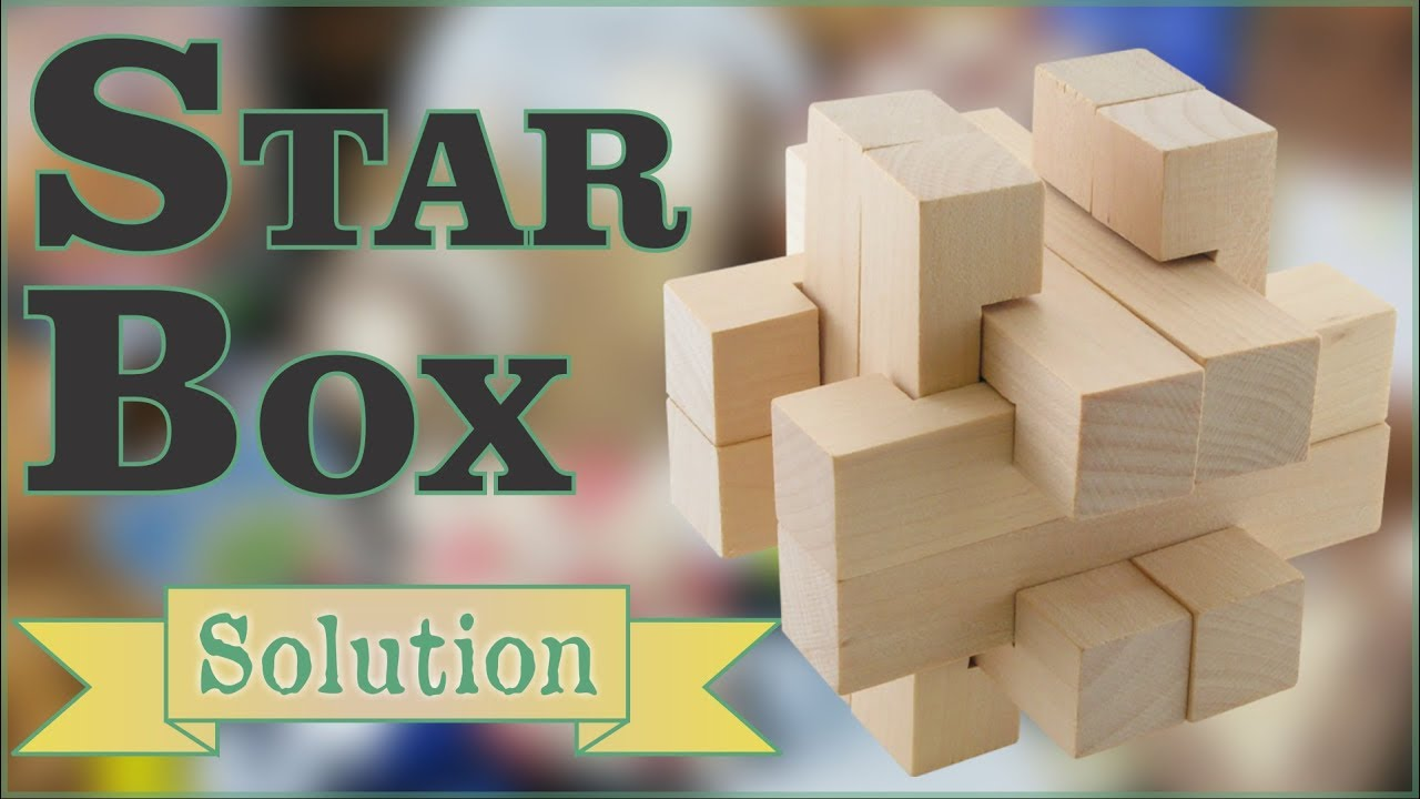 Solution For Star Box From Puzzle Master Wood Puzzles