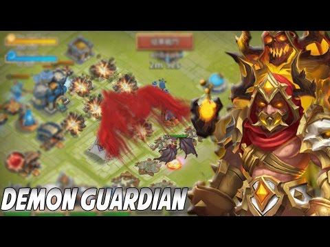 Castle Clash Grimfiend Gameplay/In Action! (Demon Guard)
