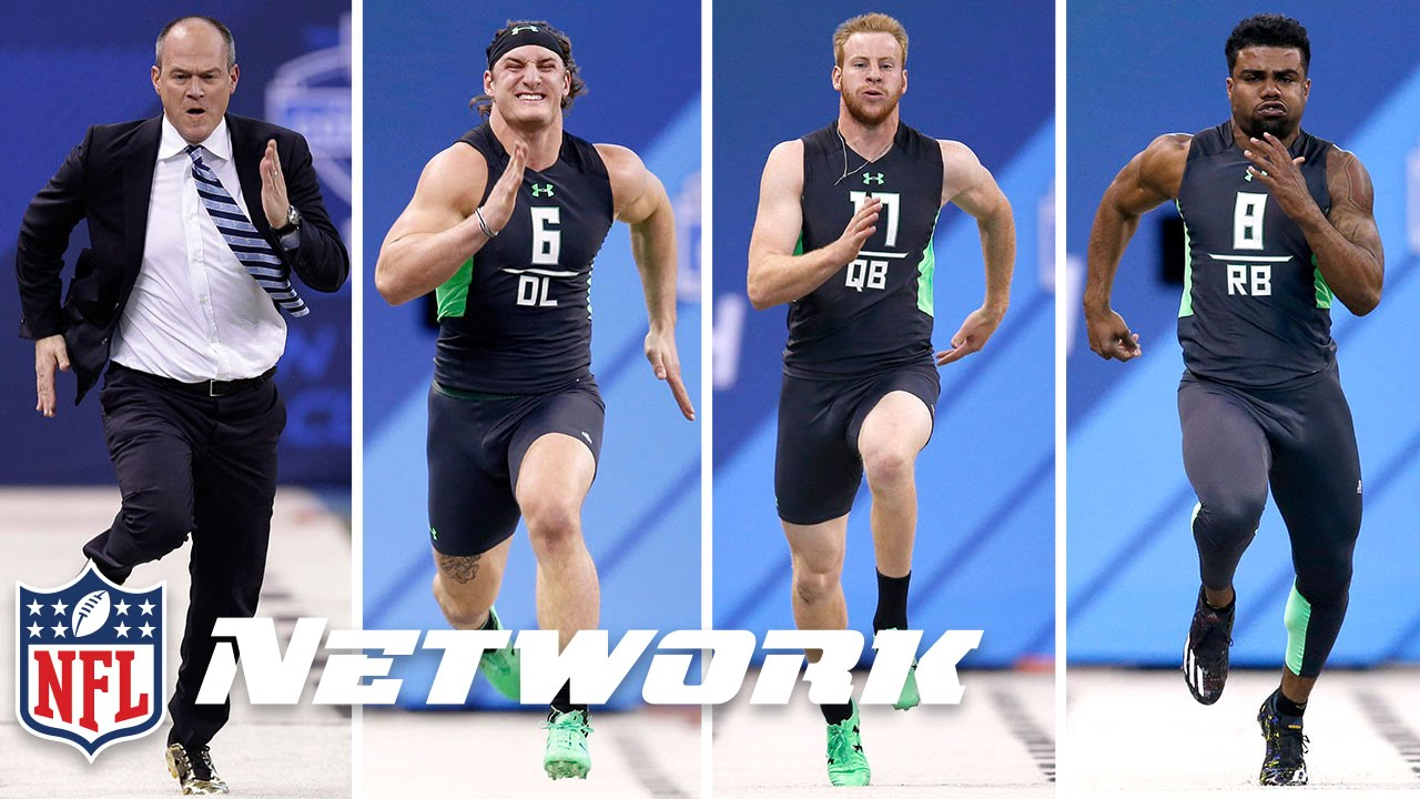 rich eisen vs  the 2016 combine 40-yard dash simulcam race